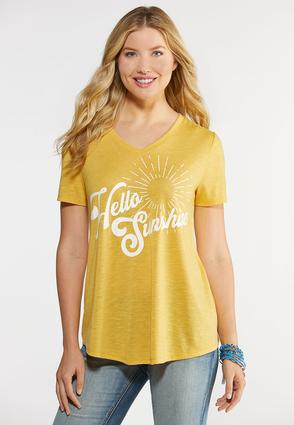 Plus Size Hello Sunshine Graphic Tee