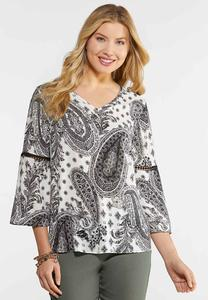 Plus Size Paisley Poet Top