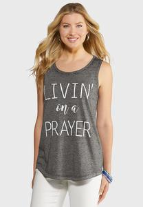 Plus Size Livin` On A Prayer Tank