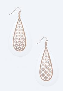 Lucite Filigree Earrings