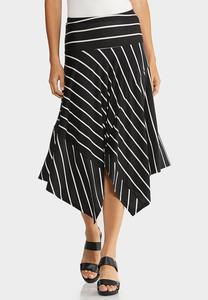 Plus Size Striped Hanky Skirt