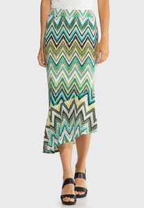 Asymmetrical Chevron Skirt