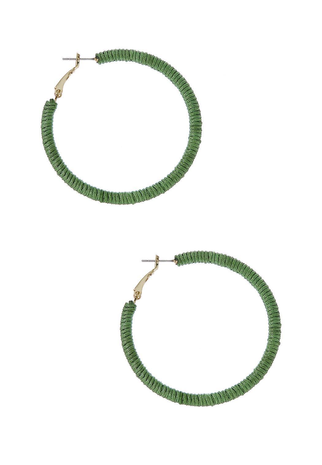 Thread Wrapped Hoop Earrings