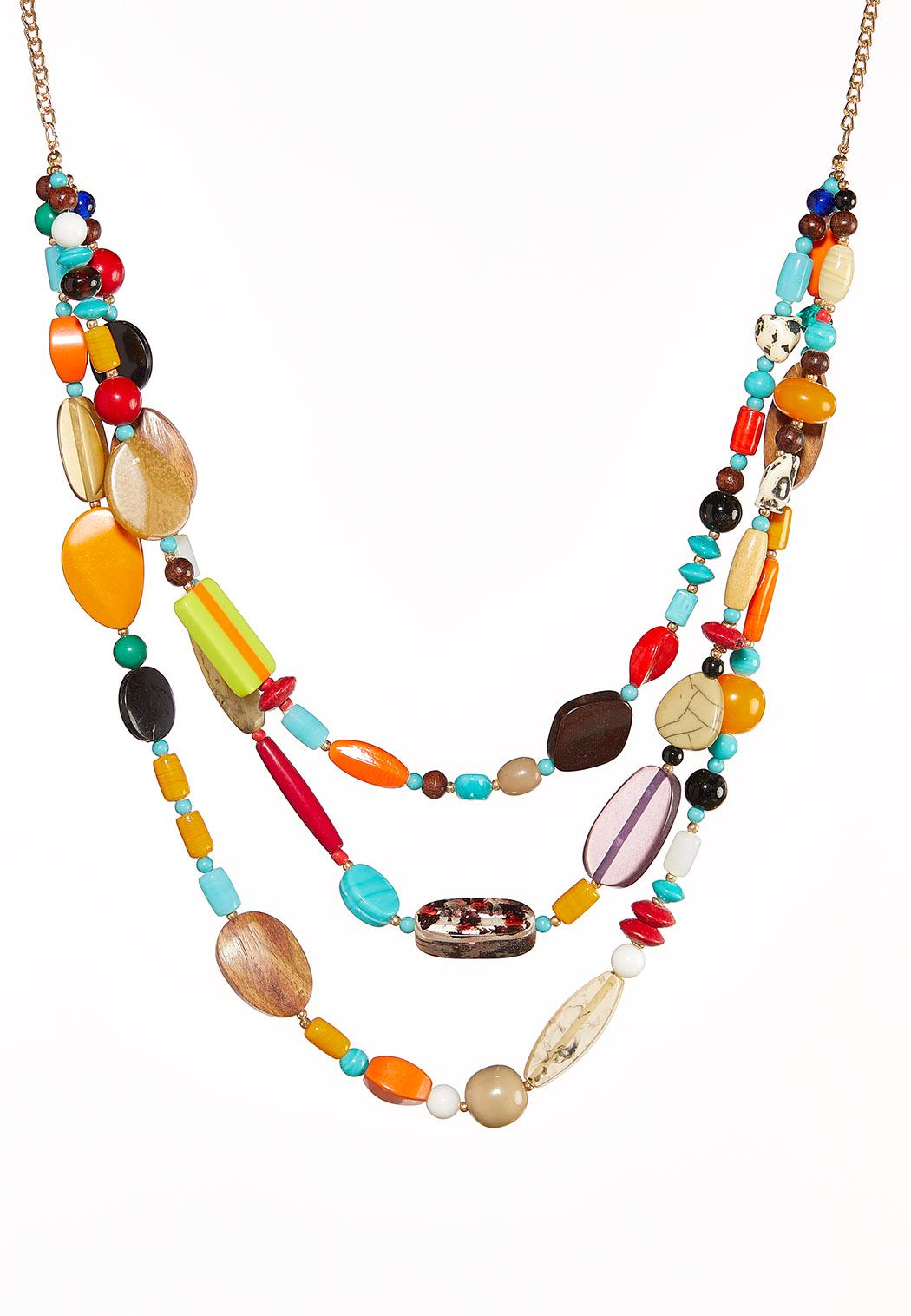 Colorful Layered Bead Necklace