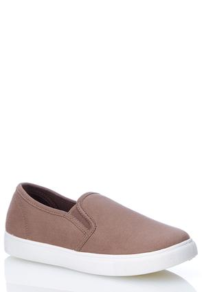 Faux Suede Slip- On Sneakers