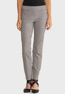 Slim Checkered Ankle Pants