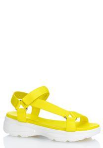 Velcro Strap White Sole Sandals