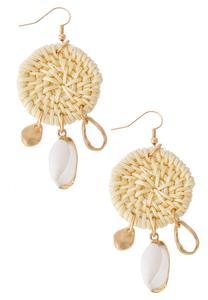 Basketweave Shell Earrings