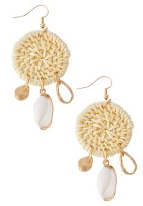 Basketweave Shell Earrings