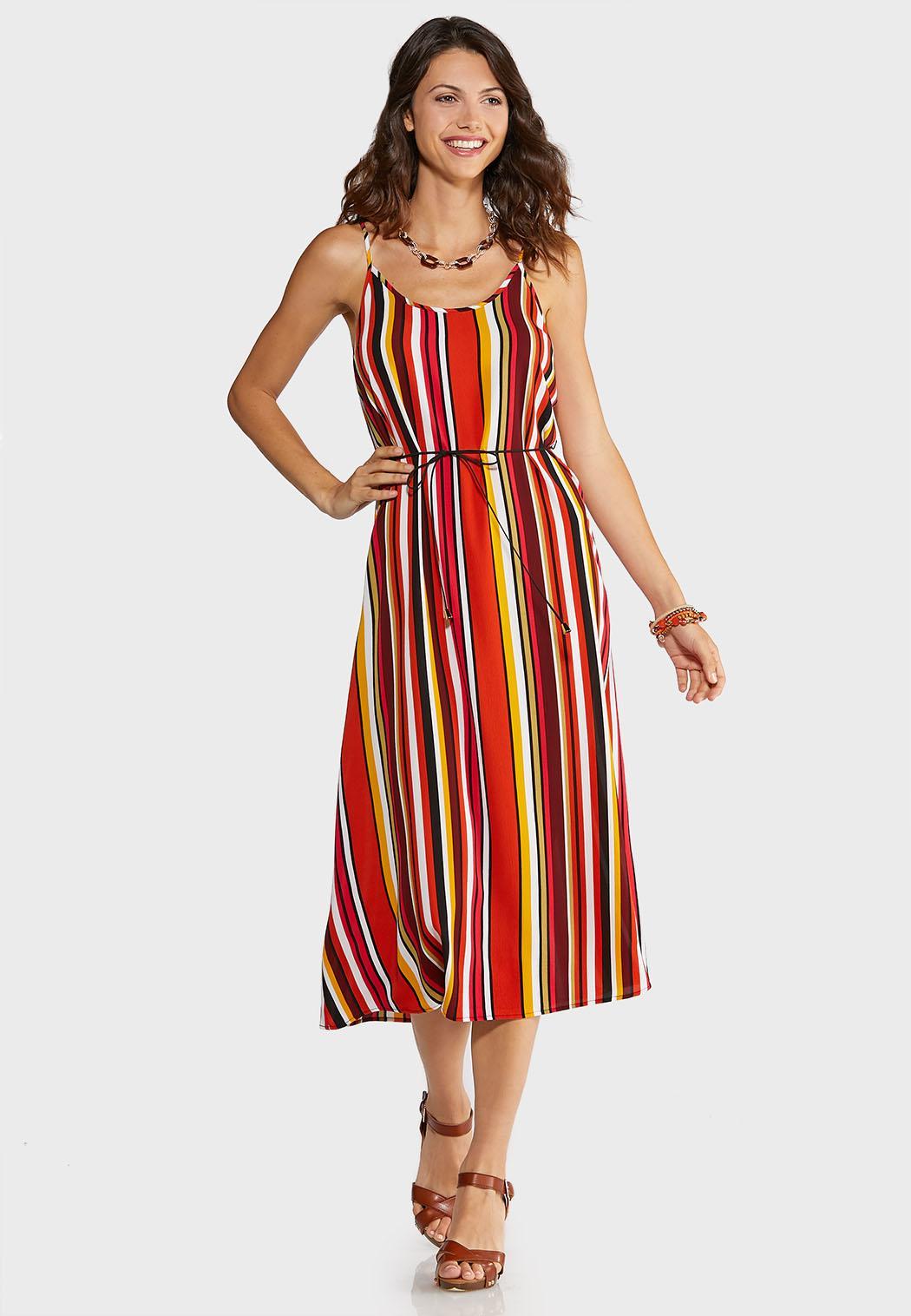 Citrus Stripe Slip Dress