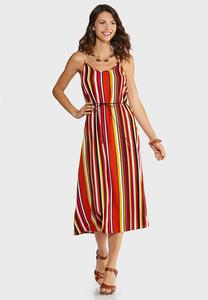 Citrus Stripe Slip Dress