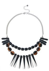Spiky Layered Bead Necklace
