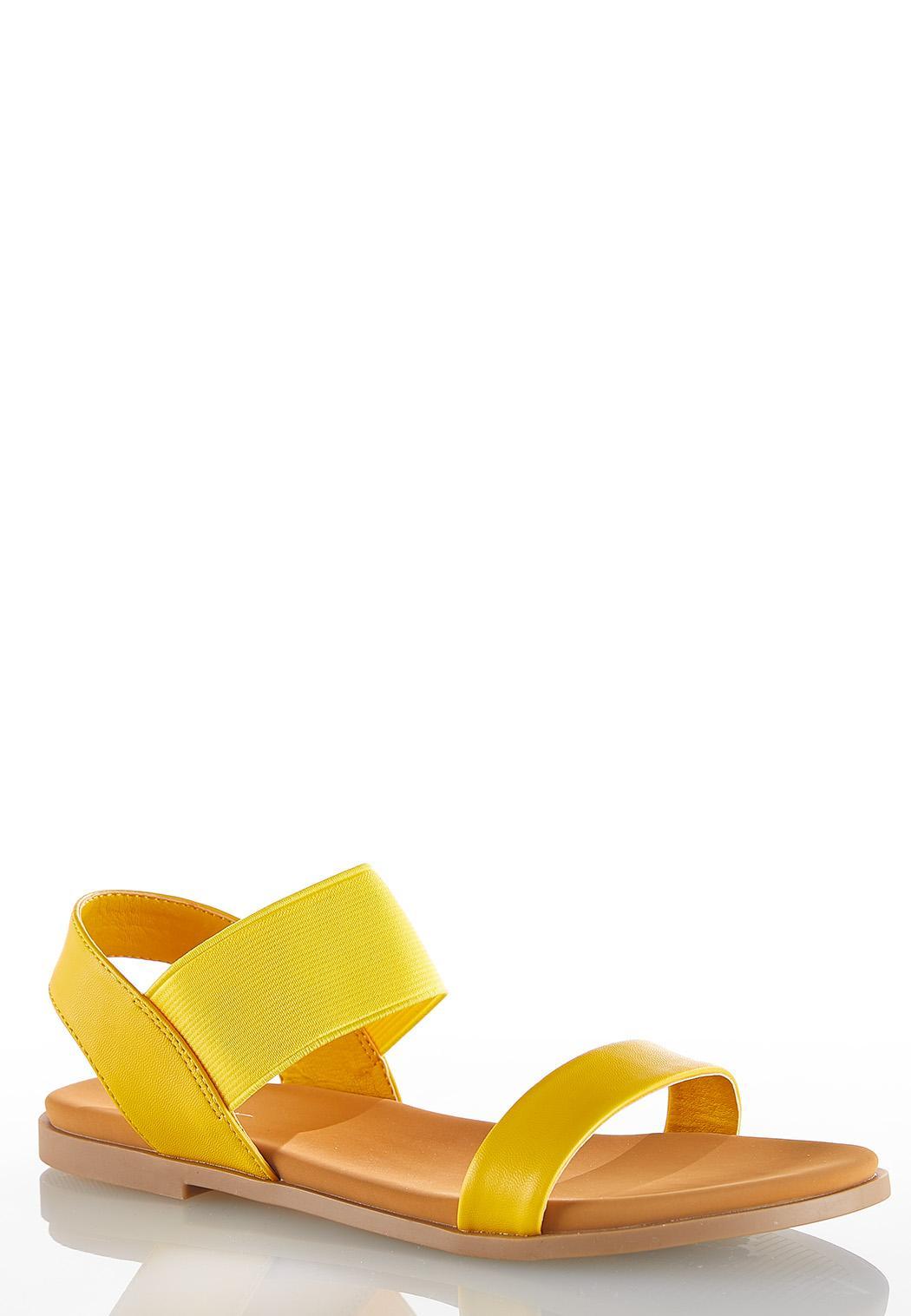 Stretch Crossband Sandals