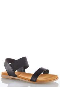 Stretch Crossband Sandals