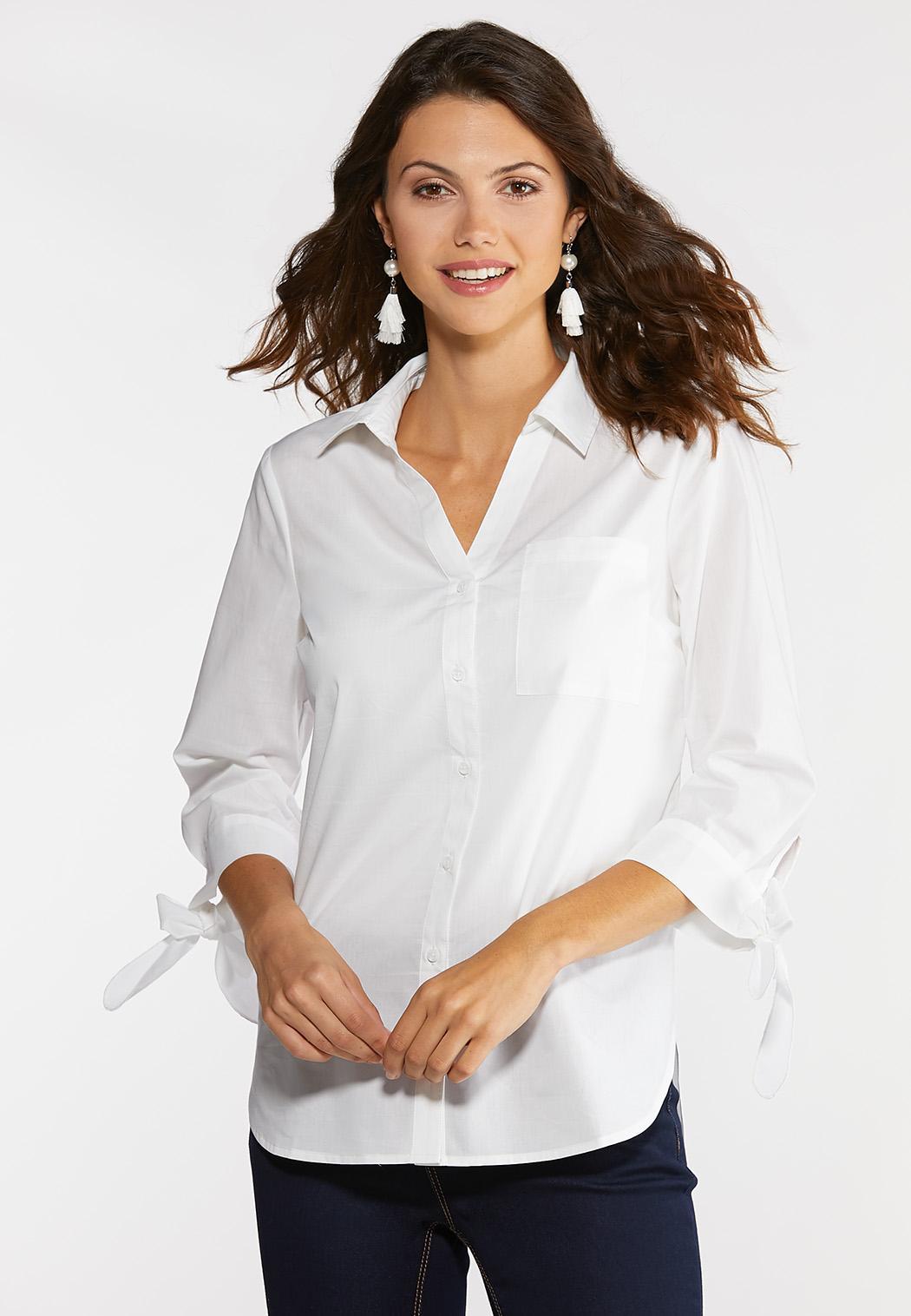 White Tie Sleeve Tunic