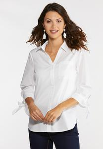 White Tie Sleeve Tunic
