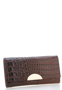 Metal Hardware Crocodile Wallet