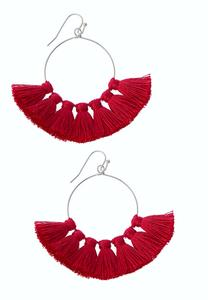 Tasseled Circle Earrings