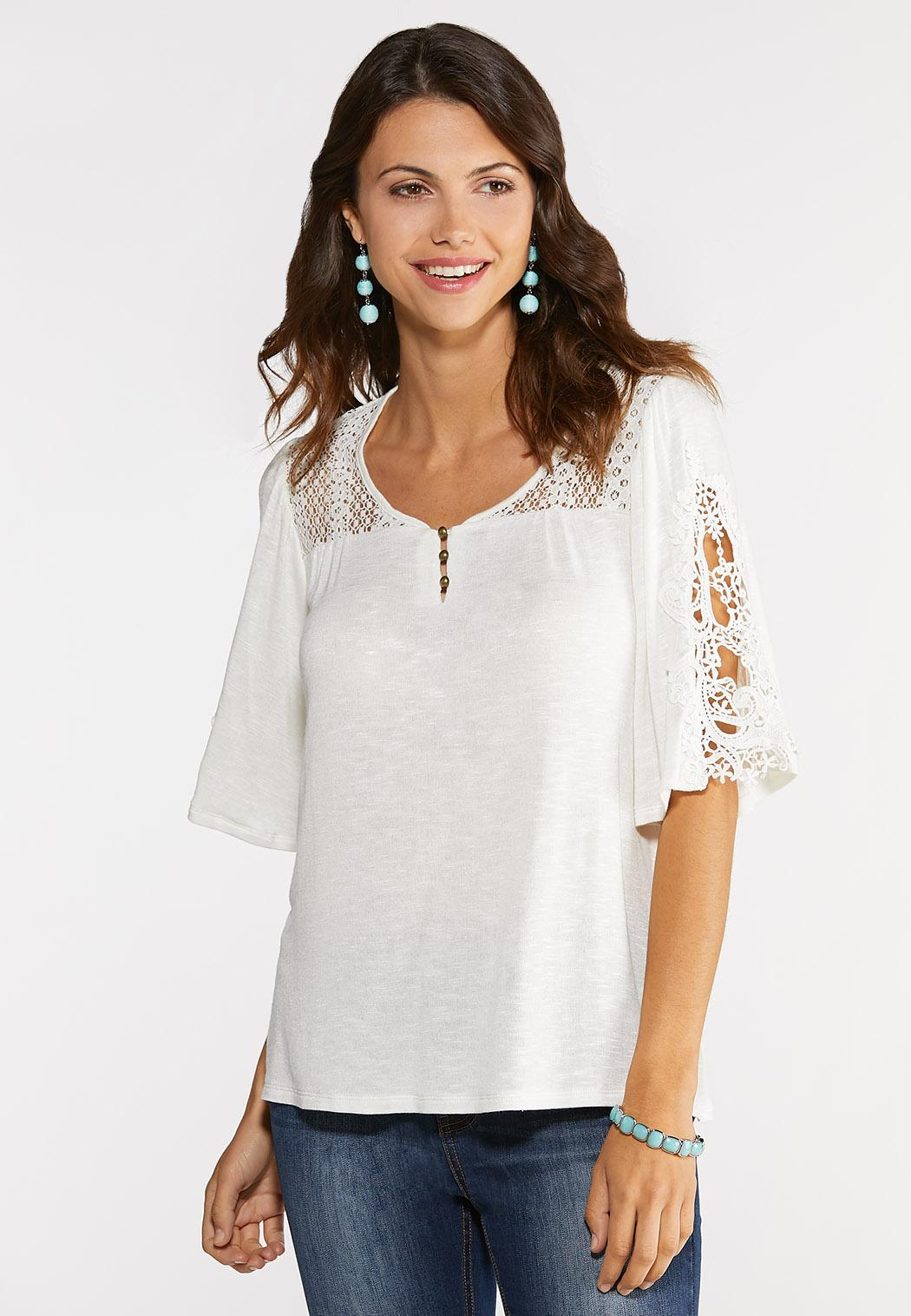 c3a0df0335bfef Lacy Bell Sleeve Top alternate view · Lacy Bell Sleeve Top