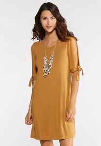 Tie Split Sleeve Dress