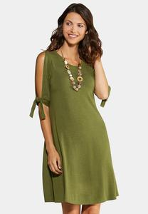 Tie Split Sleeve Dress