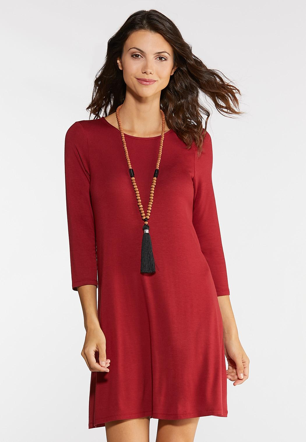 Plus Size Red Swing Dress A- Line & Amp ; Swing Cato Fashions