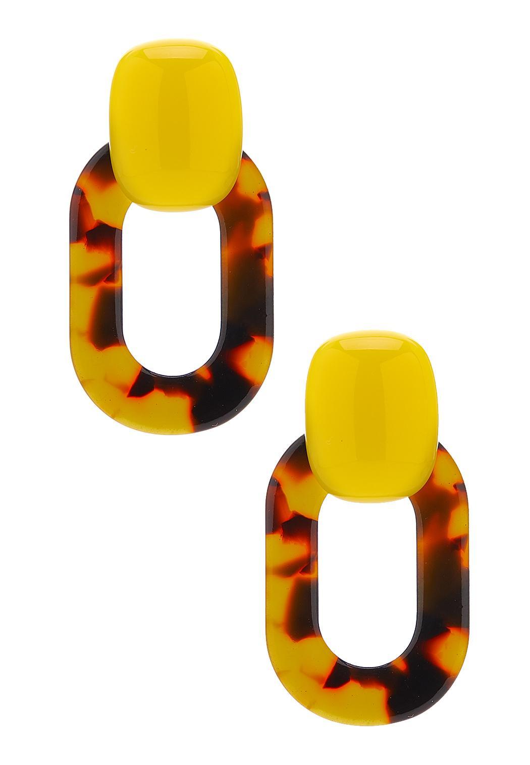 Colored Tortoise Shell Resin Earrings