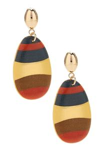 Striped Wooden Earrings