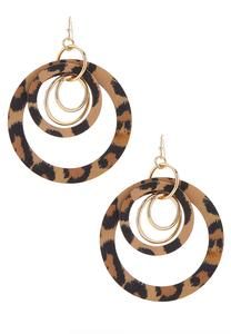 Printed Open Circle Earrings