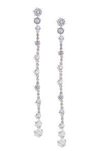 Sparkling Linear Earrings