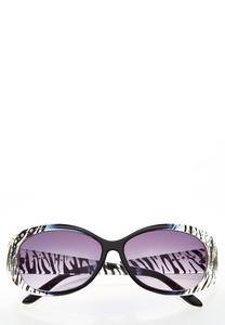 Zebra Embellished Sunglasses