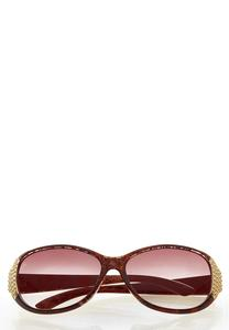 Snakeskin Round Sunglasses