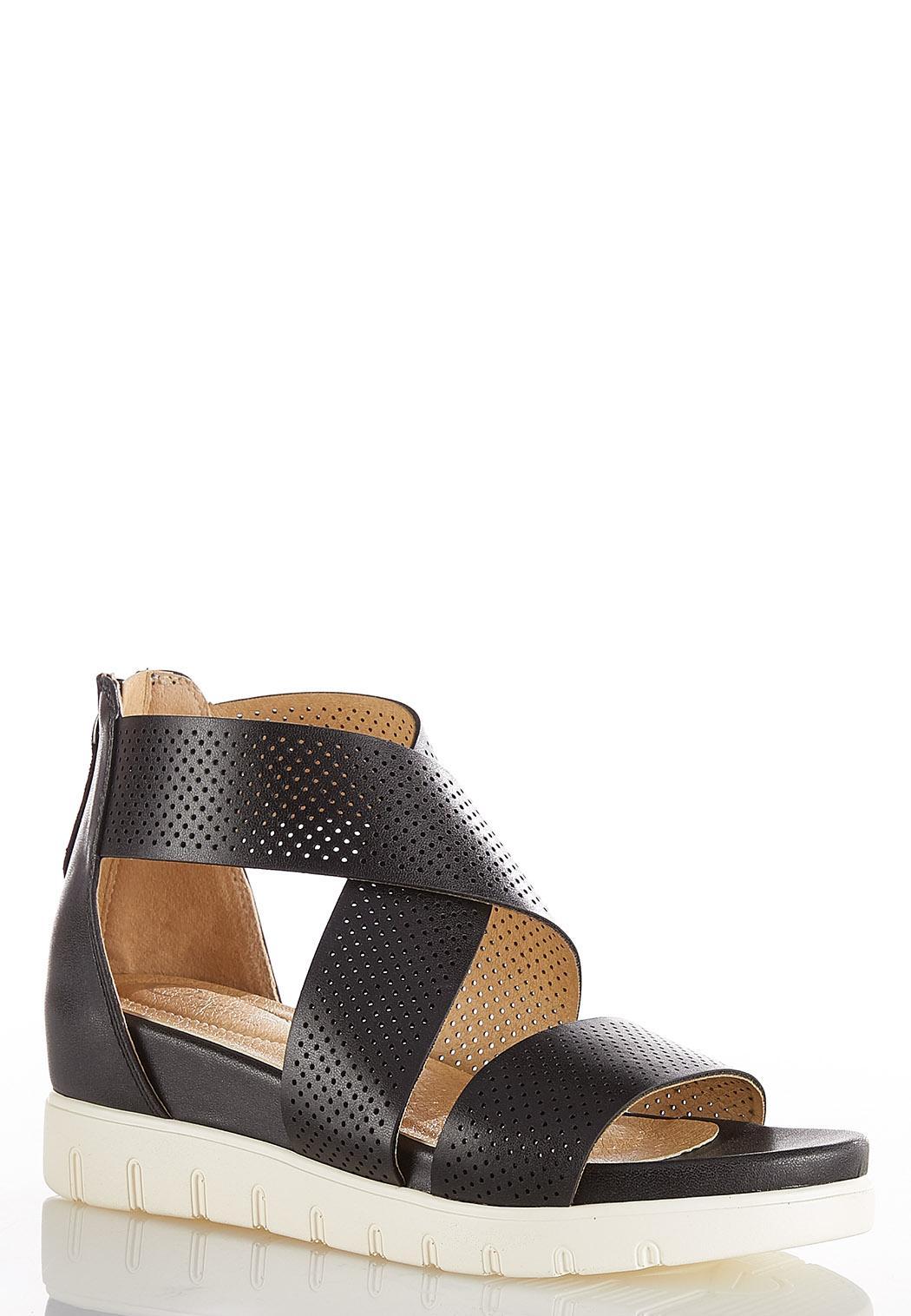 Laser Cut Flatform Sandals