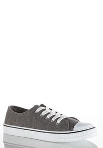 Capped Toe Lace Up Sneakers
