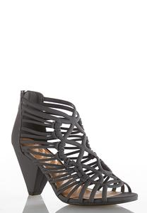 Caged Cone Heel Sandals
