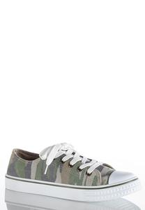 Camo Lace-Up Sneakers