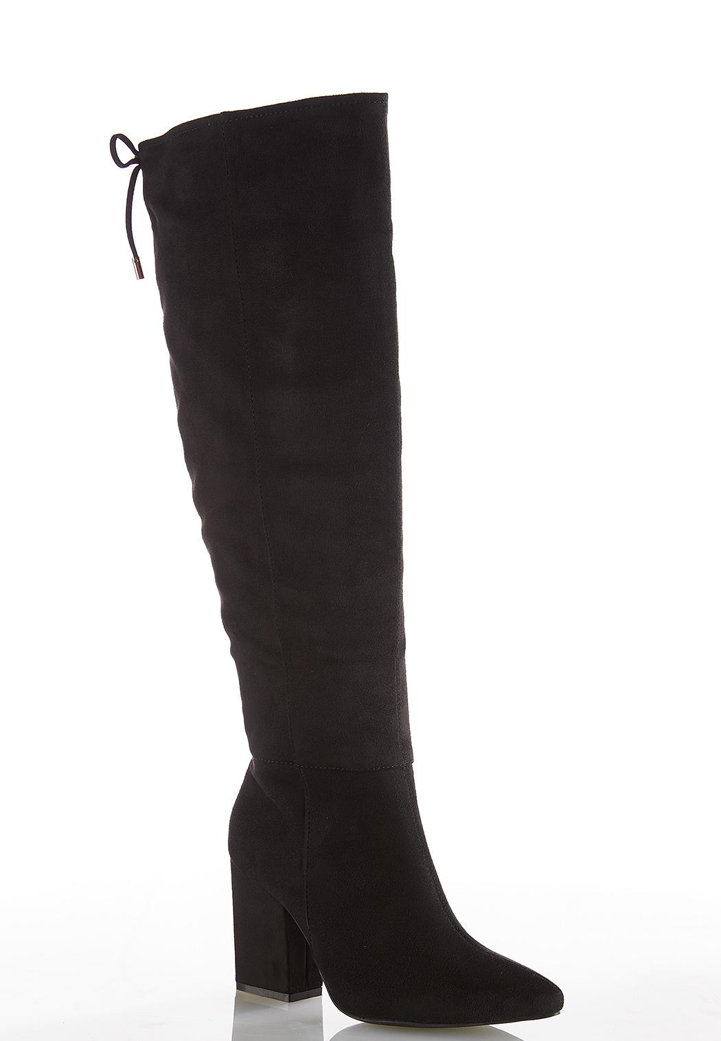 Wide Width Faux Suede Tall Boots