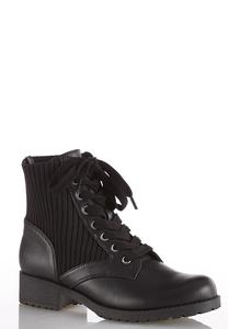 Stretch Ankle Combat Boots