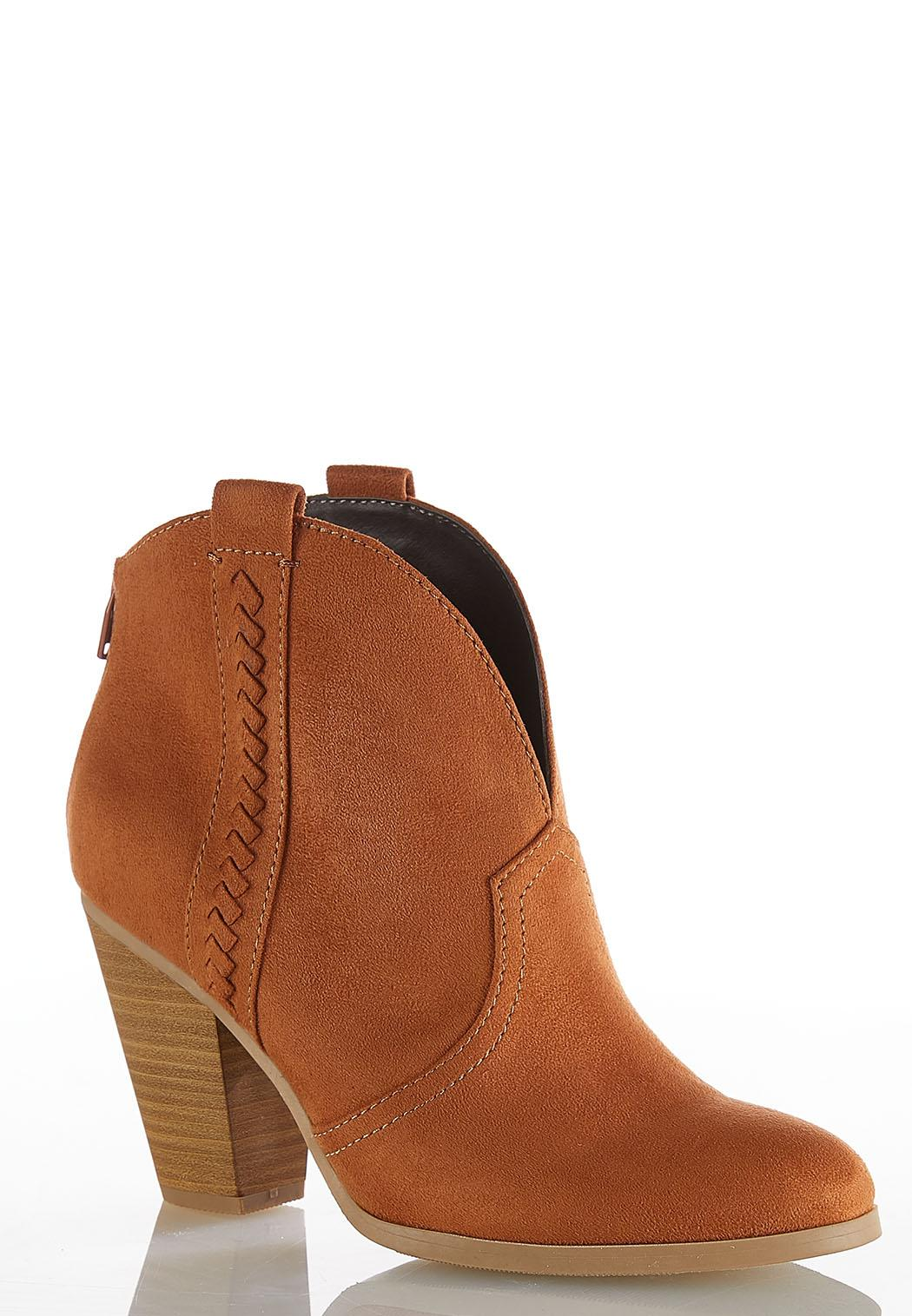 Wide Width Western Ankle Boots