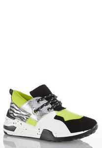 Colorblock Neon Sneakers