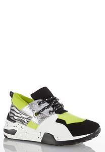 Colorblock Neon Sneakers