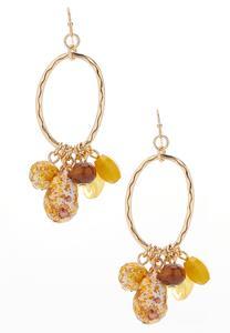 Dangling Faceted Bead Earrings