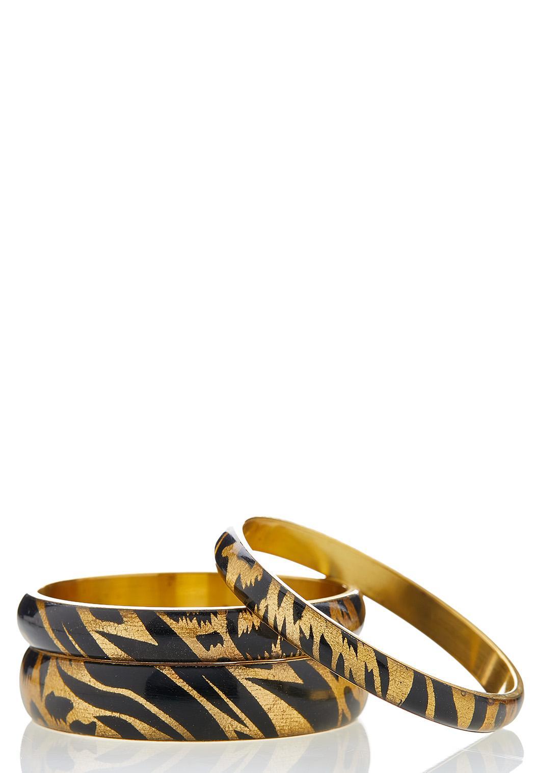 Leopard Bangle Bracelet Set