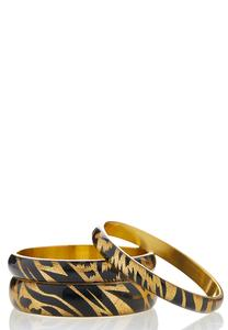 Leopard Bangle Bracelet Set