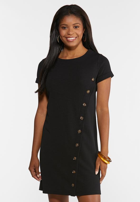 2bde95b73d9ce A-Line Button Dress