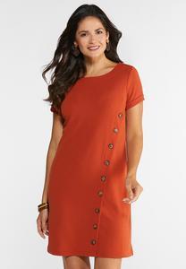 Plus Size A-Line Button Dress