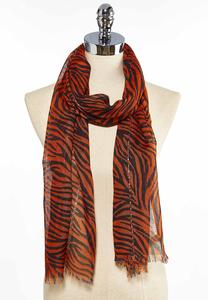 Zebra Sequined Oblong Scarf