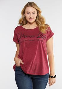Plus Size Mom Life Tee