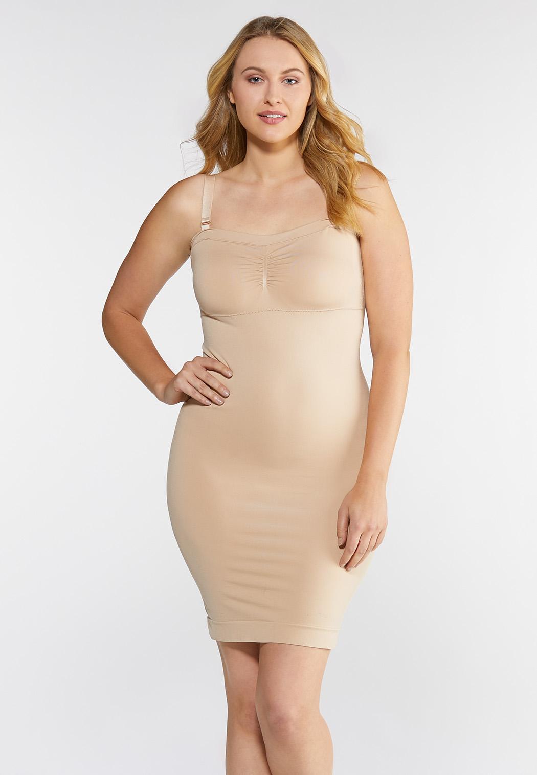 Plus Size Nude Seamless Midi Slip Intimates Cato Fashions