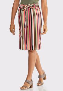 Candy Striped Tie Skirt